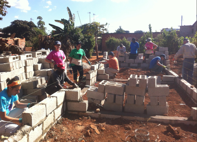 Building for Habitat for Humanity Zambia 2011