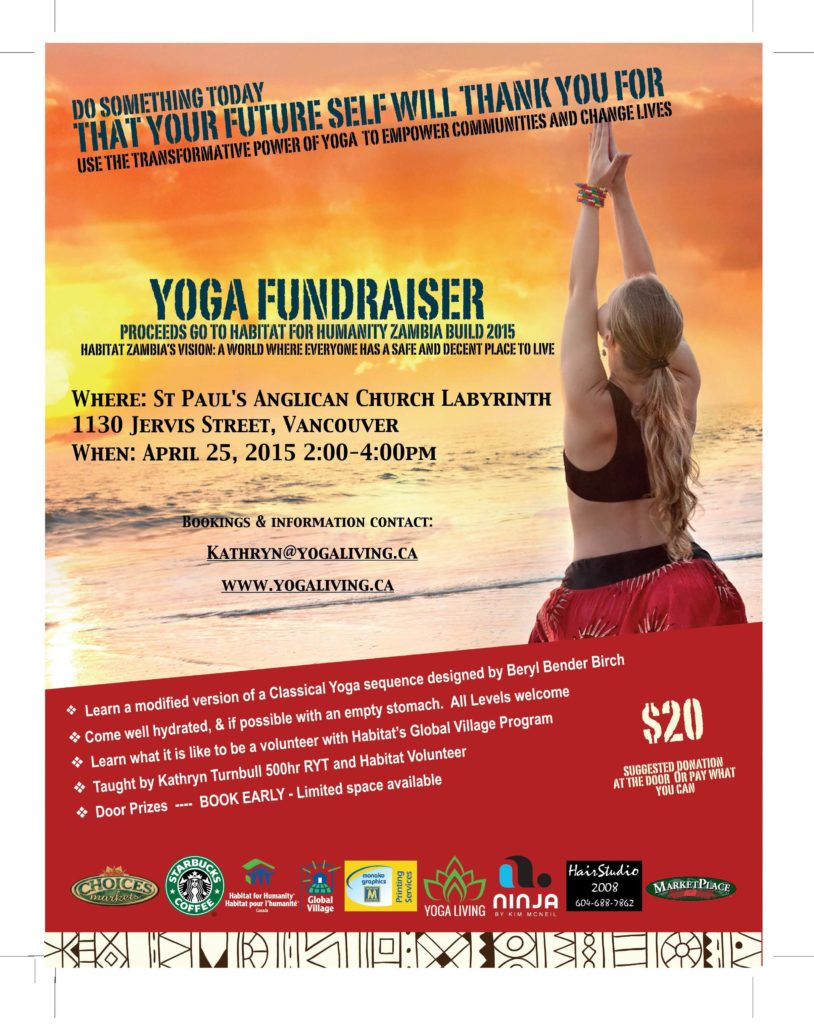 Yoga Fundraiser Transforming Lives Through Yoga 2015